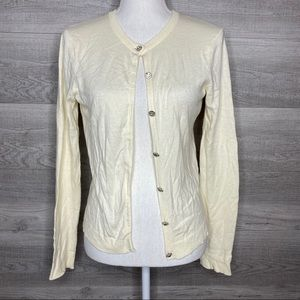 Soft Cream Button Up Cardigan Small by Gap